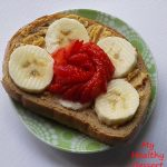peanut butter sandwich strawberry banana