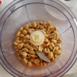 roasted peanuts in the blender
