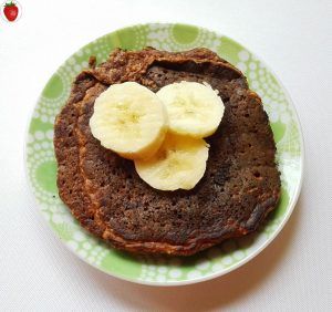 delicious vegan chocolate pancakes