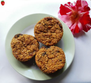 fruit and oat muffins