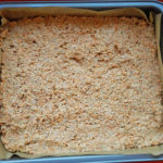 Carrot cake mixture in the tray