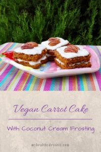 Vegan carrot cake with coconut cream frosting