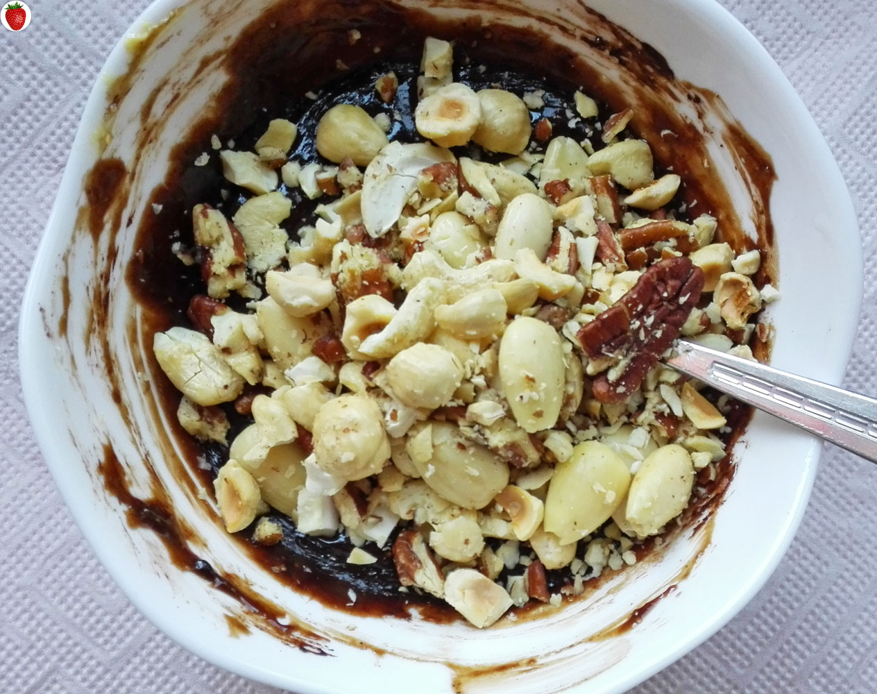 chopped nuts or ground nuts but i decided to use some whole and ...