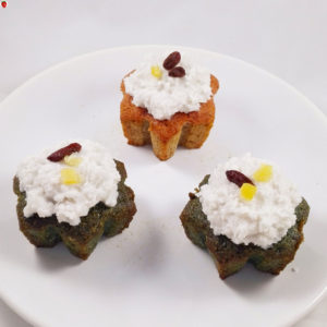 Vegan Christmas Spirulina and Beet Cupcakes
