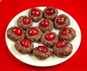 Raw Christmas Cherry Cookies
