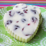 Melt-In-Your-Mouth Vegan White Chocolate Cranberry Hearts