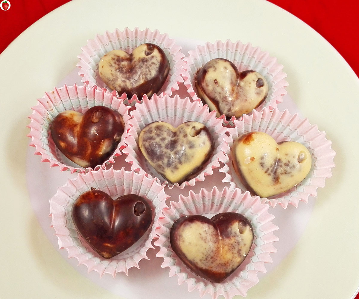 Raw Vegan Marble Chocolates For Valentine S Day My Healthy Dessert