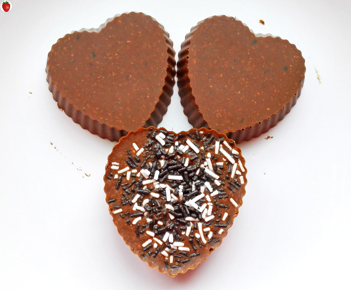 Valentine's Day Raw Vegan Crunchy Chocolate Fudge Hearts