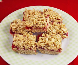 No Bake Vegan Jam Mini Crumb Squares