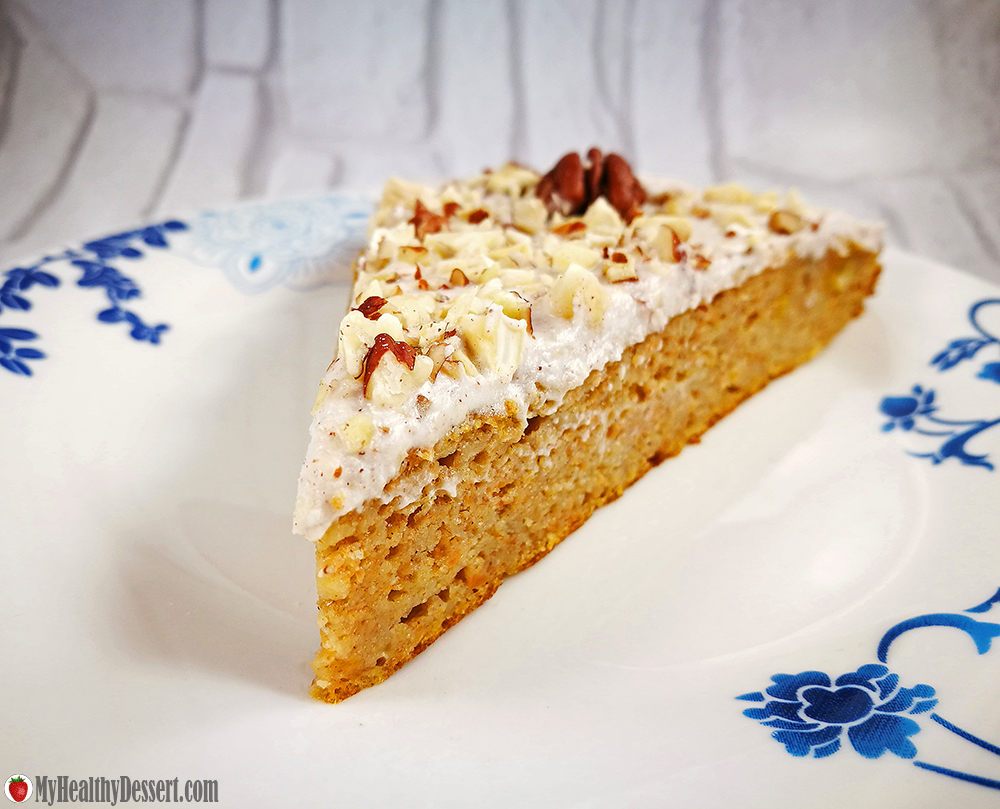 Dairy-Free Carrot Cake With Cinnamon Coconut Cream Frosting
