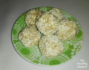 biscuit balls whipped cream oats