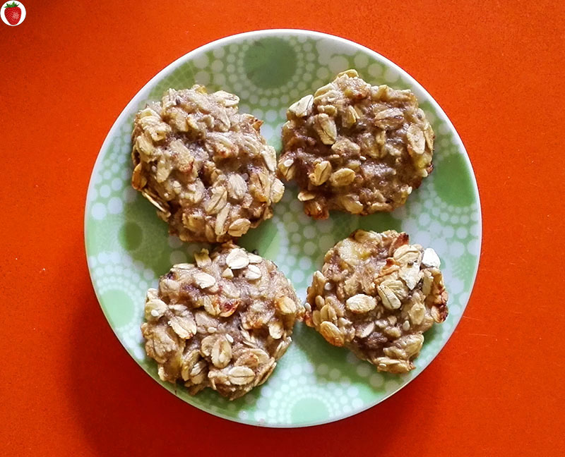delicious 2-ingredient banana oat cookies