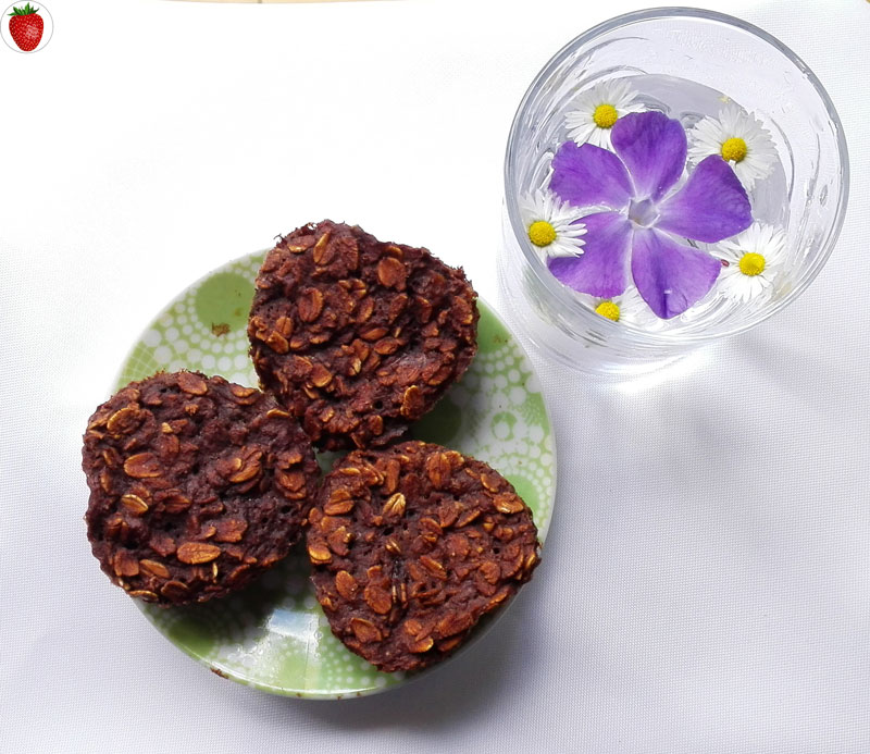 delicious chocolate oatmeal muffins
