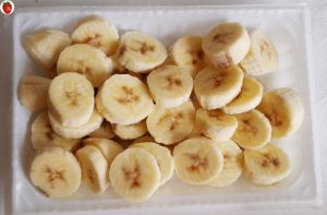 frozen banana coins or slices ready for an ice cream