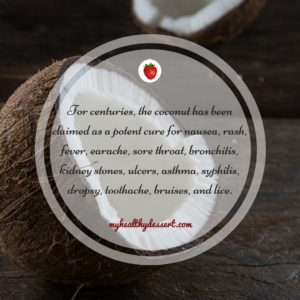 the coconut is a powerful remedy
