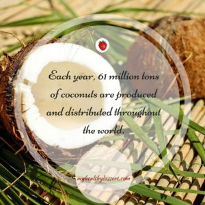coconut production each year