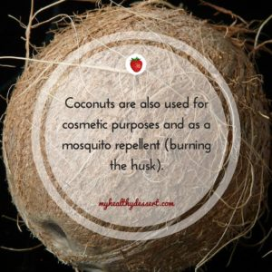 coconut can be used as repellent