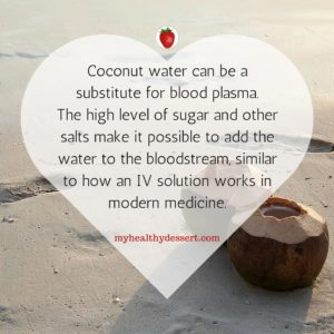 coconut water can be substitute for blood plasma