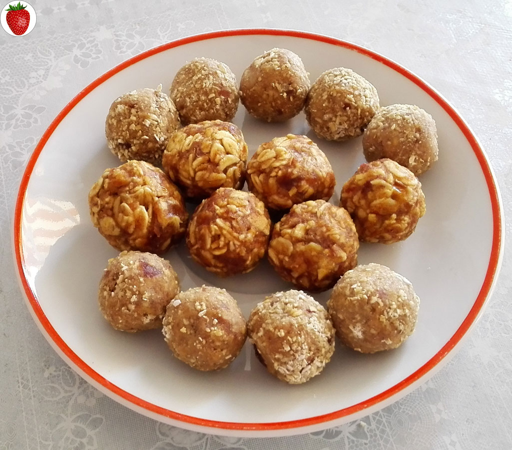 raw vegan oat energy bites
