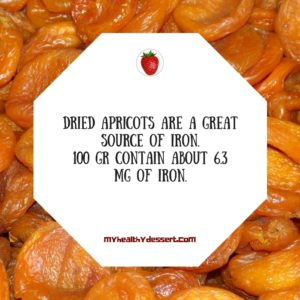 Dried apricots are a great source of iron