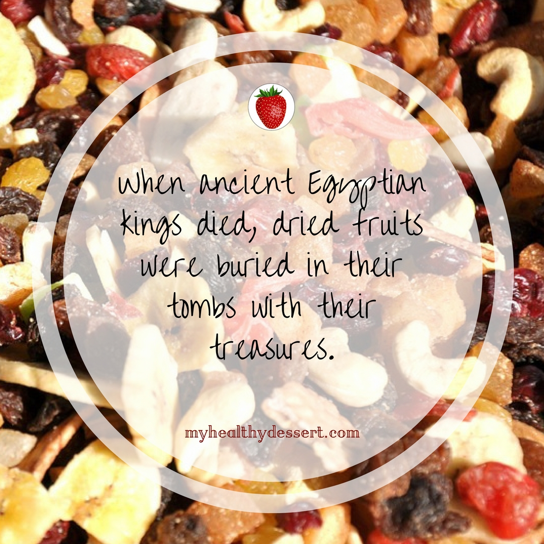Egyptians and dried fruit