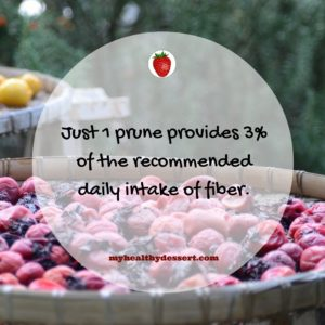 Prunes are rich in fiber