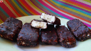 Homemade vegan bounty bars