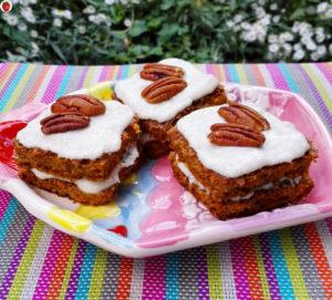 Vegan carrot cake petit fours