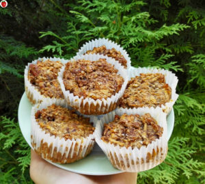 Vegan carrot and apple muffins