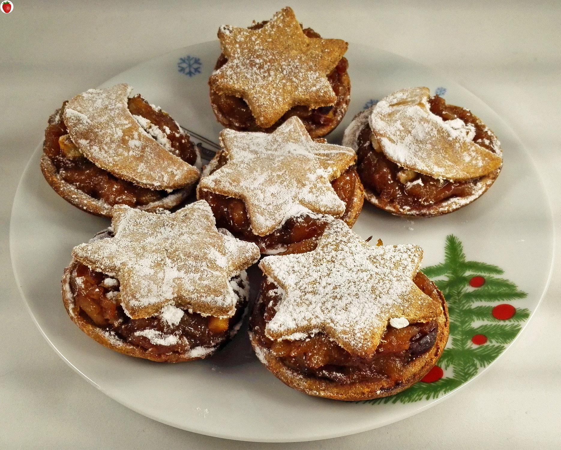Christmas Pies.Vegan Christmas Mince Pies