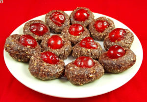 Raw Christmas Cherry Cookies