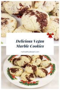 Delicious Vegan Marble Cookies