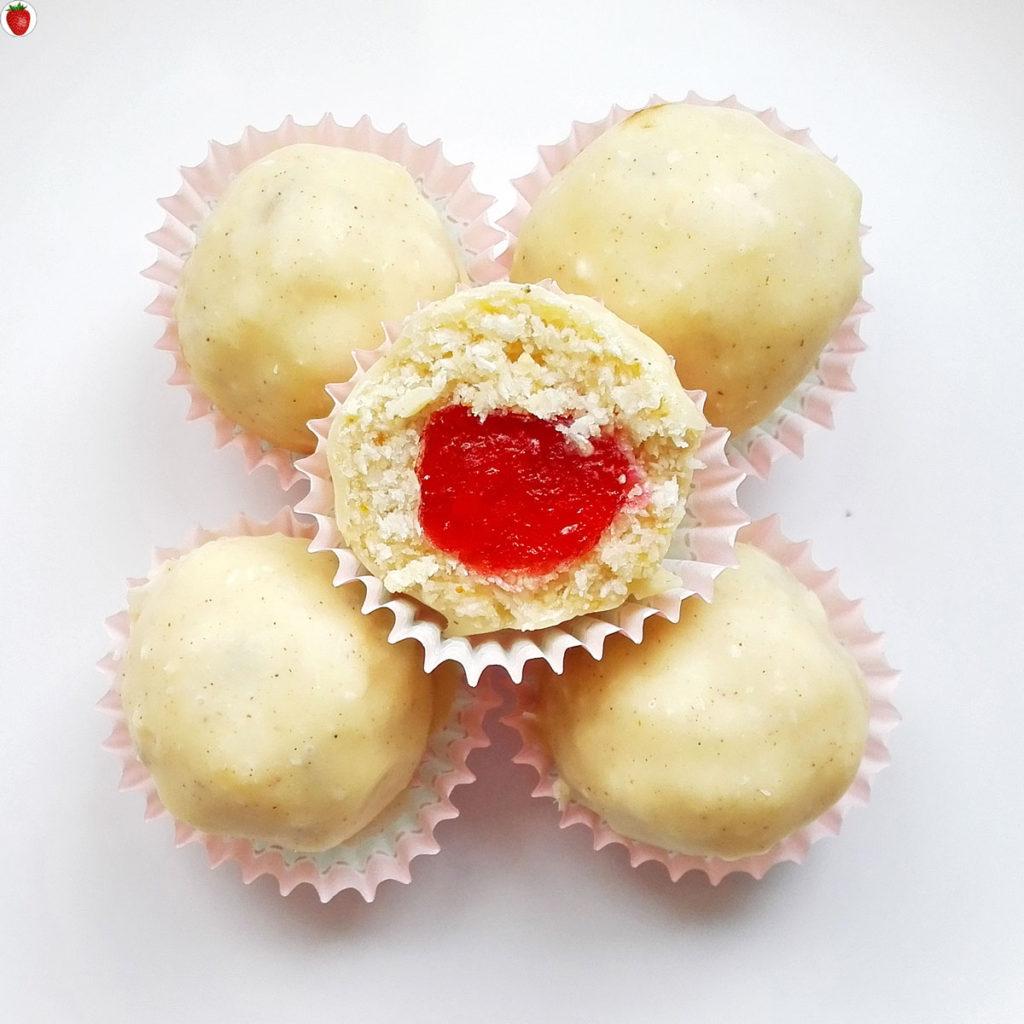 Vegan White Chocolate Cherry Truffles