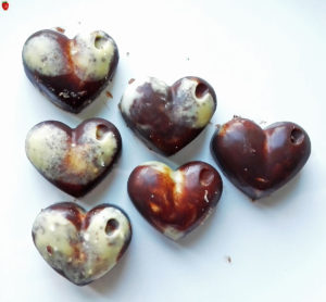 Raw Vegan Marble Chocolates For Valentine's Day