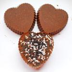 Valentine's Day Crunchy Chocolate Fudge Hearts