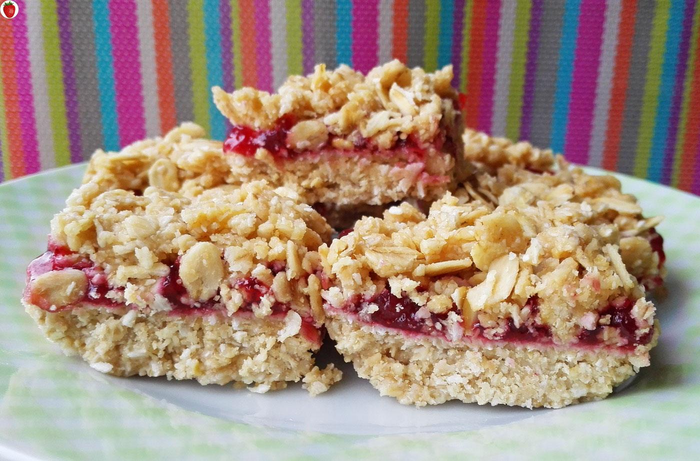 No Bake Vegan Jam Mini Crumb Squares