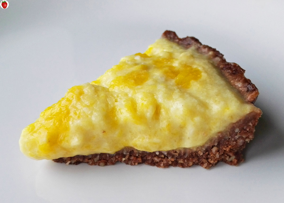 No-Bake Vegan Coconut Mango Tart For Two