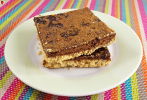 Baked Carob Oatmeal Bars (Gluten-Free, Dairy-Free, Chocolate-Free)