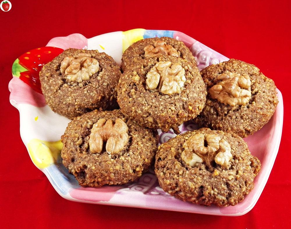 5-Ingredient Walnut Cookies (Gluten-Free, Dairy-Free)