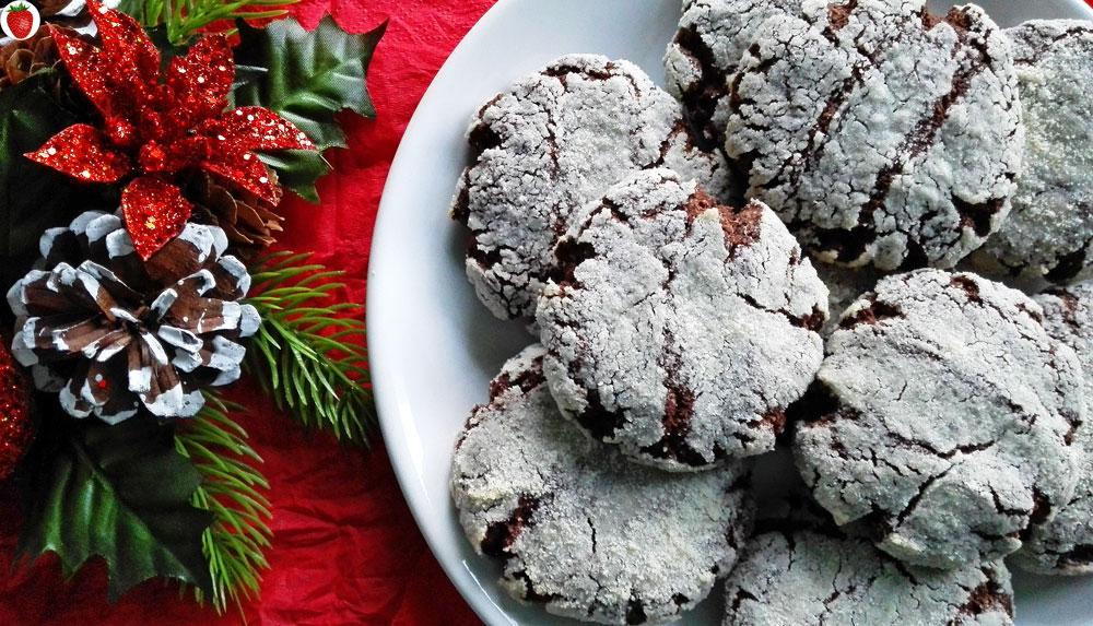 Delicious Vegan Crinkle Cookies