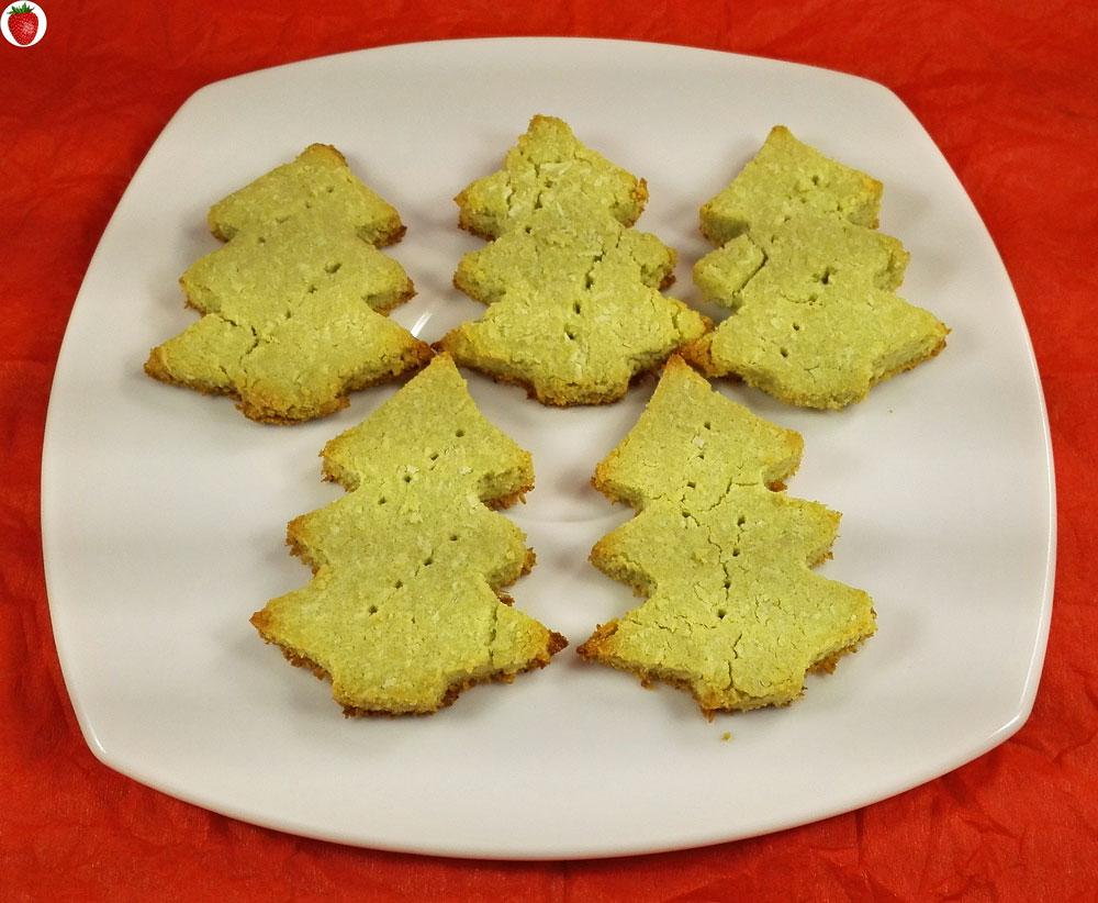 Crispy Matcha Christmas Cookies (Vegan & Gluten-Free)