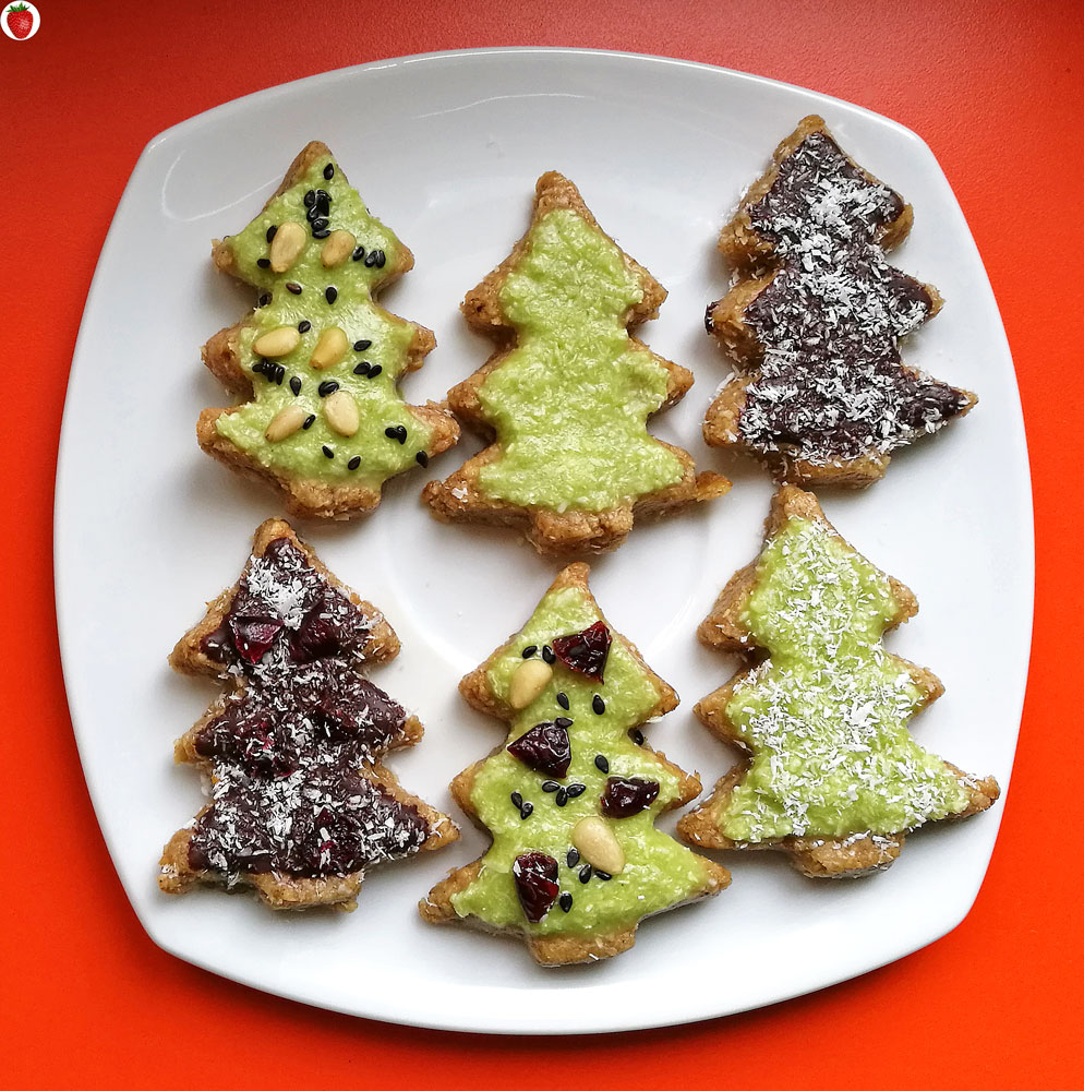 No-Bake Christmas Tree Cookies (Plant-Based Recipe) - MyHealthyDessert