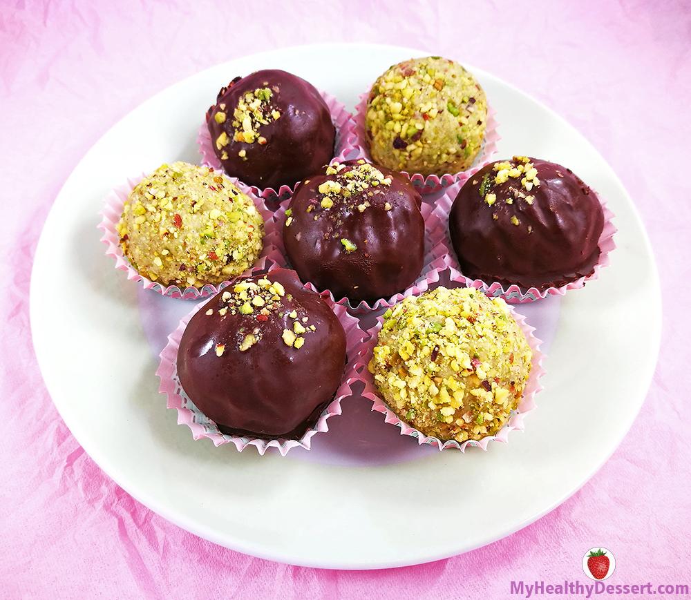 Matcha Pistachio Truffles
