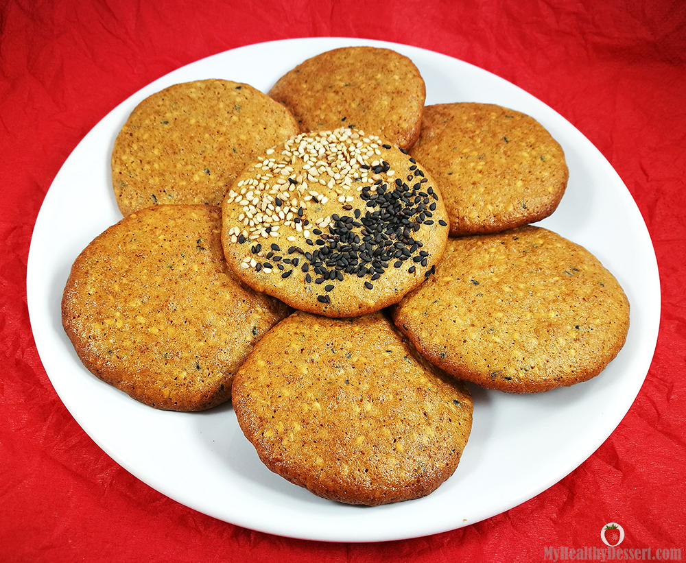 Gluten-Free Crispy Sesame Cookies With Rice Flour